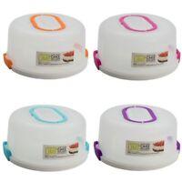 New Round Cake Container w Handle Clip Lock Cake Holder Plastic 24/30cm