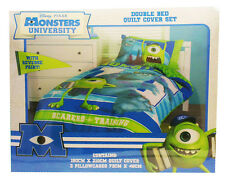 Aus Qlty Monsters University Double/King Single Bed Quilt/Doona/Duvet Cover Set