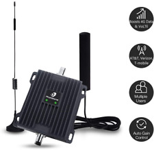 Cell Phone Signal Booster for Car, RV and Truck - Enhance 4G LTE Voice and Data