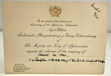 More details for invitation anniversary afghanistan independence ambassador to king 1949 india