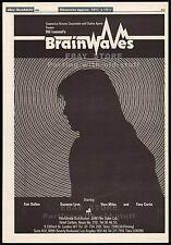 BRAINWAVES__Original 1982 Trade AD movie promo / poster__VERA MILES__ULLI LOMMEl