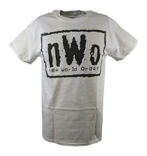 nWo New World Order White WCW T-shirt with Black Logo