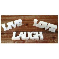 3pcs LIVE LOVE LAUGH Wooden Letters for Wedding Decoration (White) D1S1