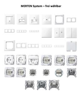 MERTEN System M /M-Smart polarweiß glänzend Schalter/Steckdose/Rahmen