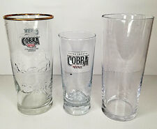 Cobra Indian Lager One Pint Glasses Beer Glass New Two 2 CE M10 RARE Pair Of 2