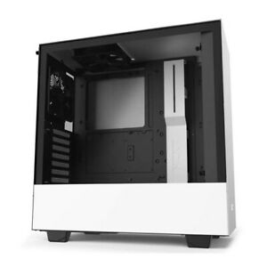 NZXT H510 Tempered Glass Compact Mid Tower ATX Computer Case - White/Black