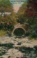 EARLY 1900's VINTAGE Blow Me Down Bridge, Cornish, NH POSTCARD - sent to Norwalk