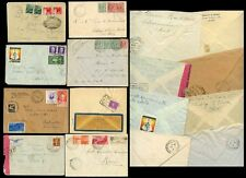 ITALY COVERS...8 ITEMS 22 stamps