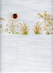 Dollhouse Wallpaper / 2 Sheets Mini Springtime Gray