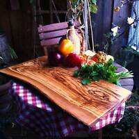 Schneidebrett Olivenholz Servierbrett Tranchierbrett Brotzeit Holz ca 60cm Brett