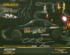 2010 Prey Racing Porsche Boxster ST signed Iron Man 2 Barber CT postcard