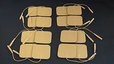 16 Replacement Pads for Tens Units electrode pads2x2Inch White Foam
