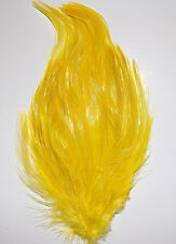 HACKLE FEATHER PAD - YELLOW New Pads; Headband/Hats/Bridal/Craft/Dress