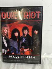 Quiet Riot - 89 Live in Japan DVD, 2004 - Rare, OOP