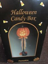 Halloween Pumpkin Candy Box Statue In Original Box Free Shipping