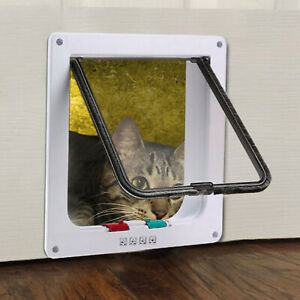 Katzentür Katzenklappe Eingangskontrolle System Hundeklappe Cat Door 4-Wege ABS