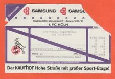 Orig.Ticket  DFB Pokal 1990/91  1.FC KÖLN - MSV DUISBURG  1/2 FINALE  !!  SELTEN