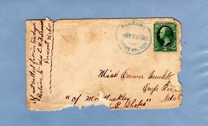 1881 3c Green Washington Fremont, Dodge Co, NEB. cover to Idaho