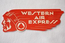More details for western air express air lines airline red luggage label
