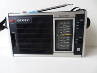 Sony ICF-5350 Vintage Radio 3 BAND AM/FM TESTED Working Good F/S