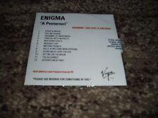 "Enigma rare cd promo album  12 titres scéllé ""a posteriori"""