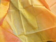 C1 coupon tissu luxe superbe voilage orange rose vert  1 m18 sur 1 m 03