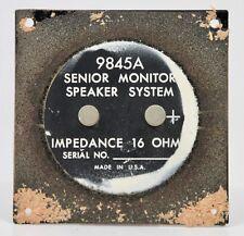(B) Vintage ALTEC LANSING Speaker Terminal from 9845A Senior Monitor Speaker