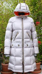 Bogner Silver And Orange Down Filled Puffy Coat With Hood Size 34 - 4- XS