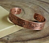 Copper Magnetic Bracelet Antique Copper Arthritis Pain Therapy Energy Cuff Horse