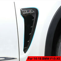 For 2014+ BMW F15-X5 X5 35I Carbon Side Marker Fender Air wing Vent Trim M Cover