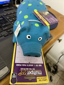 Multipet Goblets Dog Toy Squeaker Pig Globlet New