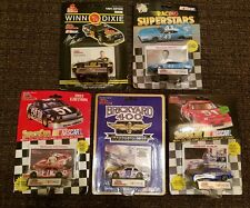 STOCK CAR, NASCAR, W/COLLECTORS CARD AND DISPLAY STAND, SET OF 8