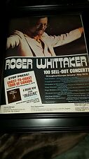 Roger Whittaker 1978 100 Shows Sold Out Rare Original Promo Poster Ad Framed!