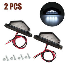 2pcs Waterproof 4 LED 12V License Plate Light Car Boat Truck Trailer Step Lamp