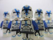 5x NEW LEGO STAR WARS 501st Legion Clone Trooper Minifigure Custom with Weapons!