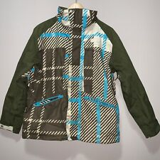 DC Jacket Exotex 5000 Snowboard Ski Vented Coat Green Brown Blue Size XLarge