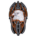 Pinstripe  eagle Pocket  EMBROIDERED 4 INCH IRON ON MC BIKER  PATCH