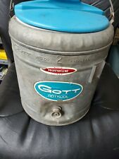 Vintage GOTT GOTKOOL Galvanized metal Industrial Water Cooler Heavy Duty