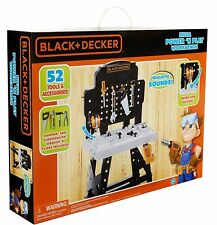 Black & Decker Mega Power 'N Play Workbench Childs Construction Tool Playset New