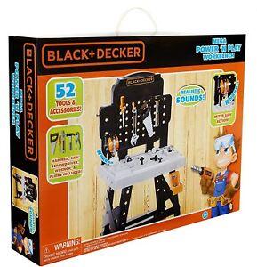 Black & Decker Mega Power 'N Play Workbench Childs Construction Tool Playset New
