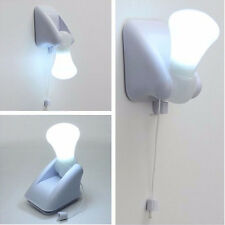 Wire LED Bulb Cabinet Lamp Night Light Battery Operated Self Adhesive Wall Mount