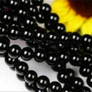 10mm Natural Black Agate Gemstone Round Loose Beads 15''