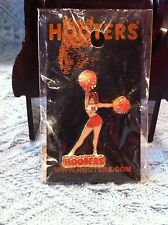 NOS HOOTERS CHEERLEADER WITH ORANGE POMS LAPEL PIN