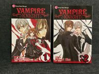 Vampire Knight Manga Vol 1&2, Very Good Condition, Matsuri Hino