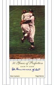 Don Larsen/Yogi Berra Auto WSPG 50th Anniv. 11 x 17 Artwork COA Yankees On Sale!