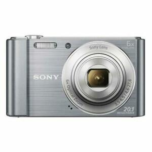 Sony DSC-W810 Compact Camera with 20.1MP, 6x Optical Zoom, Silver