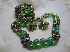 Vintage Jewelry Hobe Crystal Necklace Earrings Bracelet High End