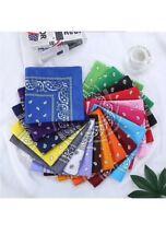 Bandana foulard motifs paisley cachemire 55x55 cm 100 % coton couleur au choix