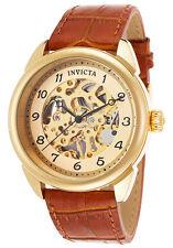 INVICTA UOMO Specialty MECCANICO COLOR ORO acciaio inox in pelle orologio 17188