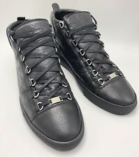 Authentic New Balenciaga Arena High-Top Leather Lace Up Sneakers US 11